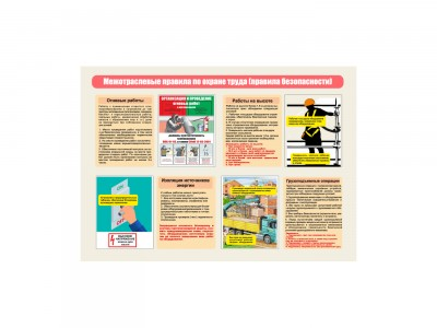 "Плакат ""Межотраслевые правила по охране труда"""