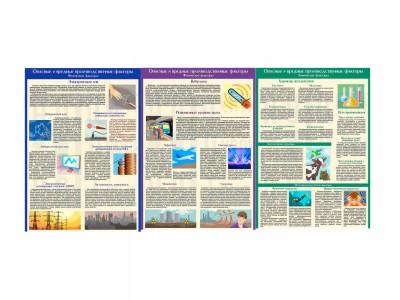 """Комплект плакатов """"Опасные и вредные производственные факторы"""""""