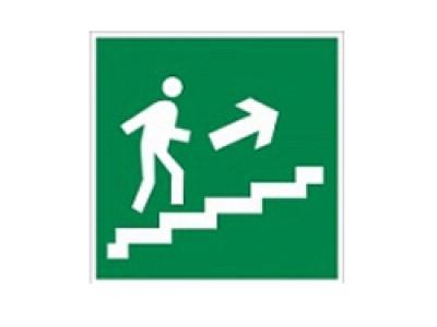 Направление к эвакуационному выходу по лестнице вверх (правосторонний)