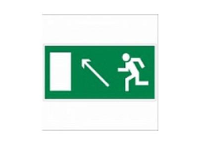 Направление к эвакуационному выходу налево вверх