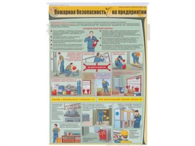 """Плакат """"Пожарная безопасность на предприятии"""""""