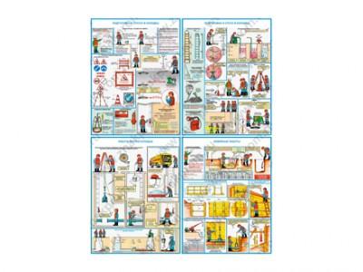 """Комплект плакатов """"Безопасность работ на объектах водоснабжения и канализации"""""""