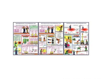 """Комплект плакатов """"Электробезопасность при напряжении от 1000 В"""""""