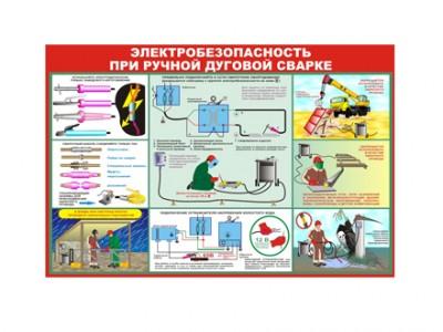 """Плакат """"Электробезопасность при ручной дуговой сварке"""""""