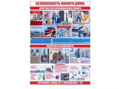 """Комплект плакатов """"Безопасность жилого дома, действия при пожаре"""""""