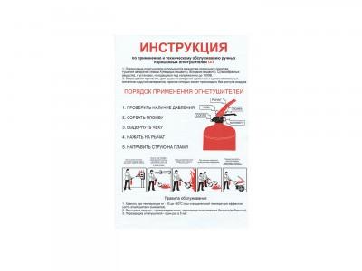"""Памятка """"Инструкция применения порошковых огнетушителей"""""""