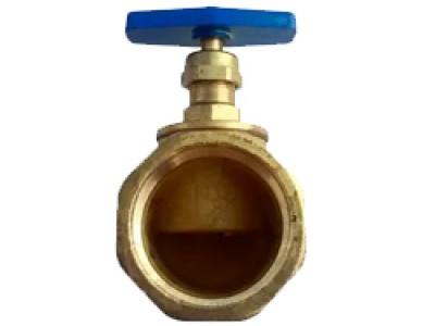 Клапан ДУ-50 прямой латунный 15Б3Р (М-М)