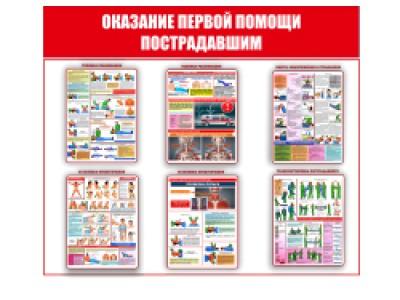 """Плакат """"Оказание первой помощи пострадавшим"""""""