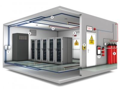 Монтаж автоматической установки газового пожаротушения