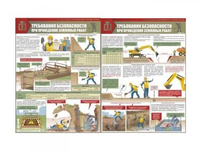 """Комплект плакатов """"Земляные работы. Требования безопасности"""""""