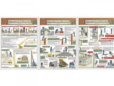 """Комплект плакатов """"Строительные работы. Требования безопасности"""""""