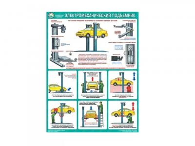 Безопасность работ в авторемонтной мастерской. Электромеханический подъемник